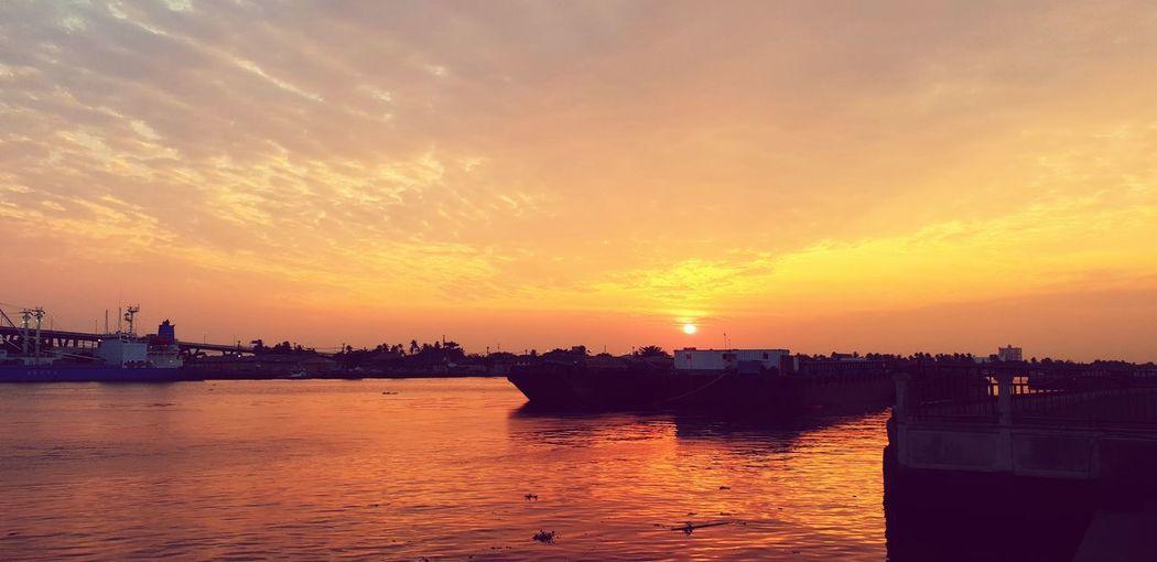 City Water Nautical Vessel Sailing Ship Sea Sunset Cityscape Beach Ship Sky