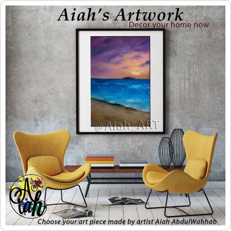 #artwork #artist #art #modernart #decor #homedecor #WallDecor #aiah_artwork #original #tableau #canvas #aiah_art #luxury #contemporaryart #homedesign #aiah #nature #thisisegypt #acrylicart #oilpainting #artsy #colors #decoration #artforsale #forsale #decoration #homedecor #artistsoninstagram #painting #interiordesign #naturephotography Chair Beach No People Indoors  Day
