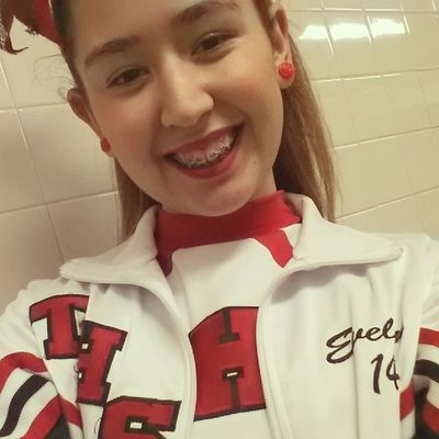 forced to wear make up today. -.- at least we got that WIN! Gotoros ! Playoffs GotthatW