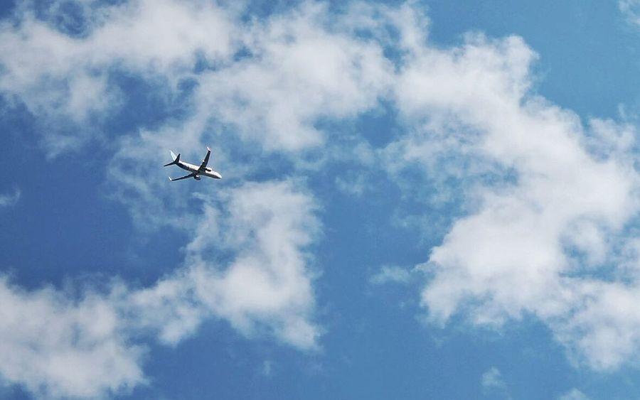 Ukraine Sky Airplane Clouds Photo Canon Nature
