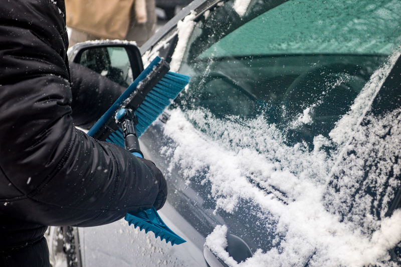 A Day In The Life Adult Adults Only Authentic Moments Capture The Moment Car Cleaning Close-up Cold Temperature Human Body Part Human Hand Man At Work One Man Only One Person Outdoors People Personal Perspective Transportation Winter Working