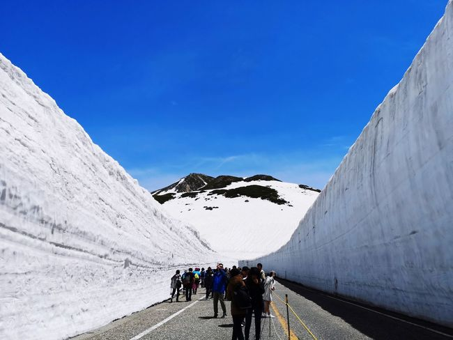 Snow Corridor. This year the wall is not so high but it is still nice. Snow Wall Relaxing Nice Weather Mountain Snow Adventure Cold Temperature Snowcapped Mountain Glacier Natural Landmark
