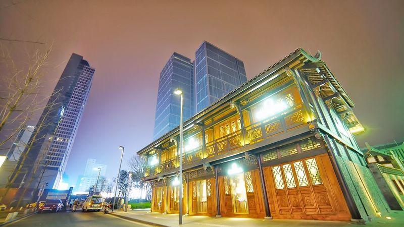 Cities At Night Chengdu China Chunxi Road
