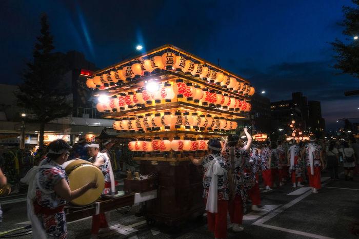City Street Drawing Drum Evening Festival Illuminated Japanese Drum Kokura Lantern Lanternfestival Lifestyles Multi Colored Night Night Lights Nightphotography Outdoors Streetphotography Summer Tyouchin Wadaiko