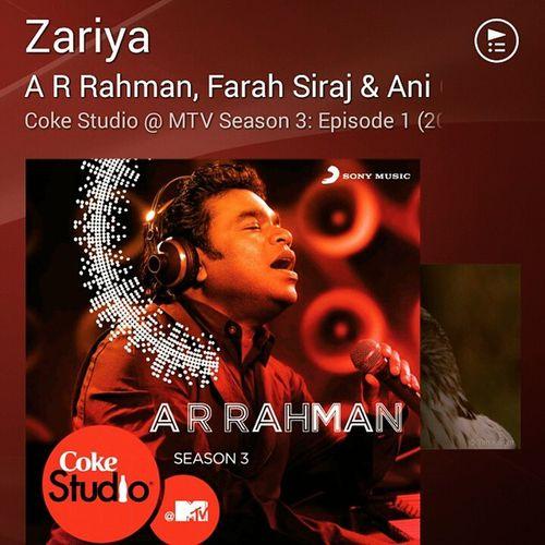 Zariya Zariya, hoon mai zariya aur uski kripa darya darya.. Such a wonderful Song Zariya Cokestudioatmtv Music fusion arrehman cokestudio wonderful Walkman