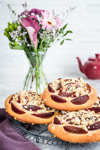 danish pastry with plum Homemade Food Baked Biscuits Danish Pastry Food Homemade Sweets No People Plum Sweet Sweet Food