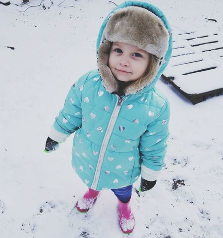 Children Only Child Childhood Portrait Looking At Camera Cold Temperature Winter Playing