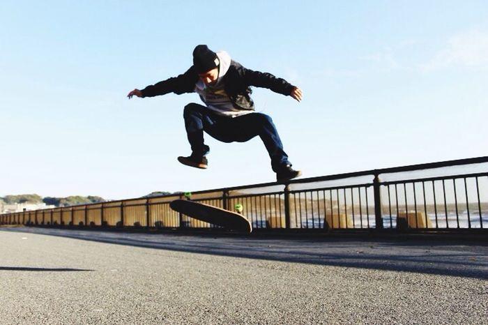 Skateboarding TreFlip Miss