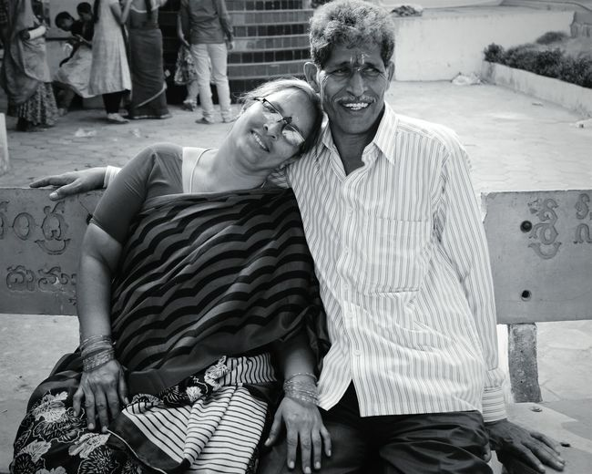 Love Without Boundaries Eye4photography  Comfortable Love Is In The Air Indian Couple Happiness Around Me Satisfaction The Human Condition Portraits Monochrome Photography
