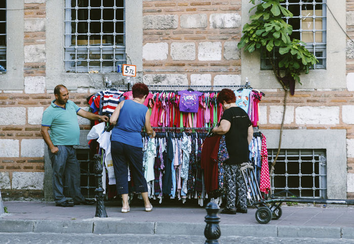 Casual Clothing Chose Clothes Front View Full Length Istanbul Turkey Lifestyles Má Occupation Old Woman Hehe Real People Shop Shopping Shopping ♡ Standing Street Traditional Clothing Turkey Women