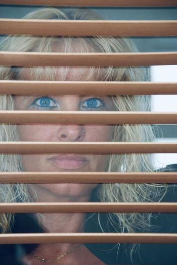 Goodnight Good Morning Nina Sternfee Blue Eyes Portrait Indoors  Blond Hair Women