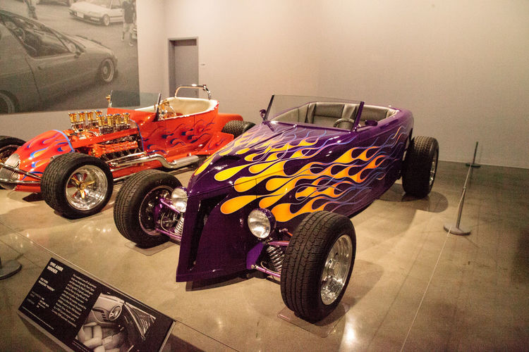 Los Angeles, CA, USA - July 23, 2017: Purple 1932 Ford Roadster called Passion displayed at the Petersen Automotive Museum. Editorial use. 1932 Antique Classic Classic Car Fast Car Ford HotRod Petersen Automotive Museum Roadster Hot Rod Old Car Passion Purple Car Race Car