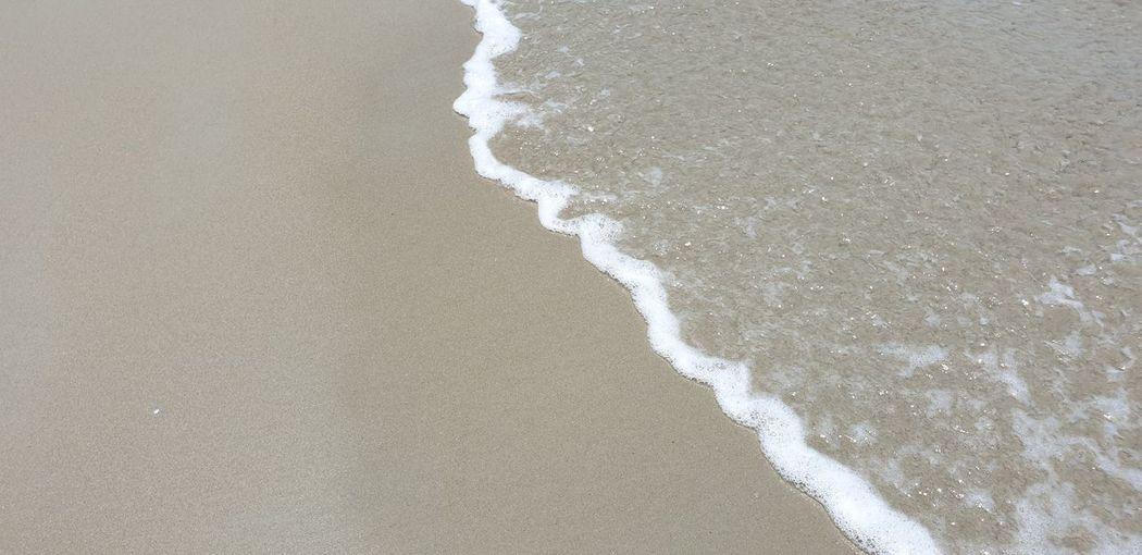 Wave On Sandy Beach Sand Wave Water Wave Beach Sea Sand Close-up Shore Sandy Beach Ocean Full Frame Backgrounds Textured  Seaside