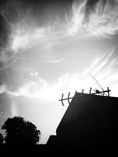 Sky Blackandwhite Peaceful Evening
