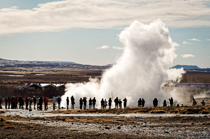 #emolandscapes Ice Winter Day Geyser Nature Outdoors River Scenics - Nature Sky Snow