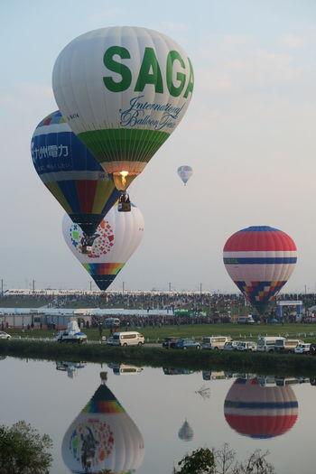 Sky 佐賀 Baroon バルーン 嘉瀬川 Japan Saga River 川 Hot Air Balloon