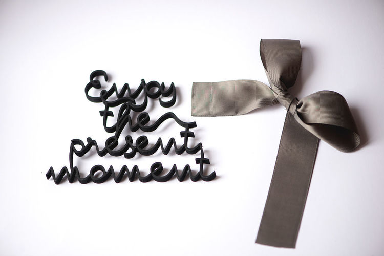 Celebration Holidays Moment Quotes Text Clean Close-up Day Indoors  Minimal Minimalism Motivational Words No People Present Present Moment Still Life Studio Shot Time White Background White Backround Words