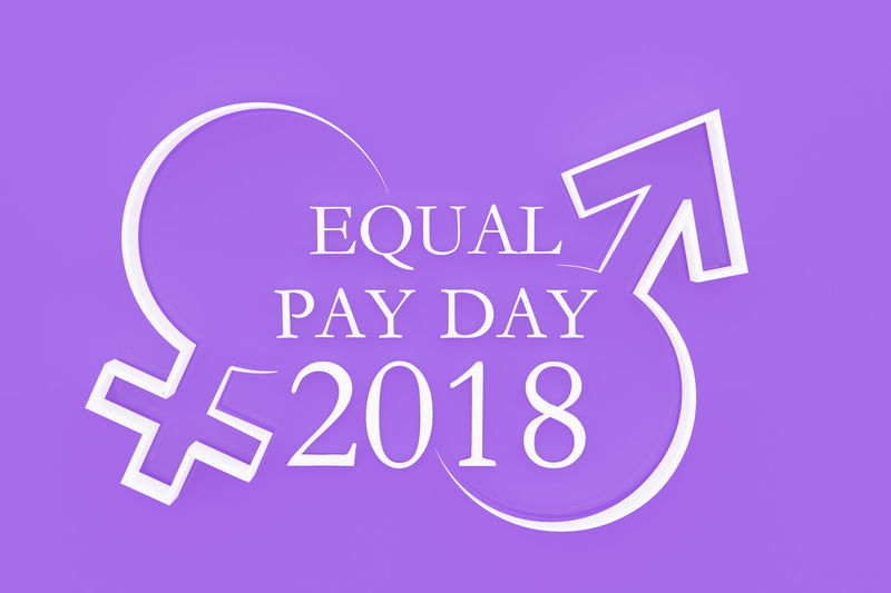 3D 3D Art 3d Rendering Day Equal Pay Day Equality Female Females Male Males  Man Pay Shapes Shapes And Forms Sign Symbol Woman
