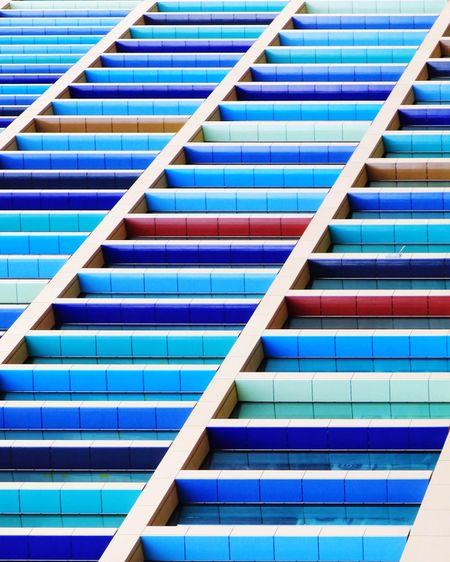 Bold colour facade