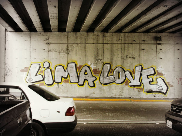 Lima Love Architecture Built Structure Car Day Graffiti Indoors  Land Vehicle Mode Of Transport No People Parking Garage Transportation Urban Urban Art Forms