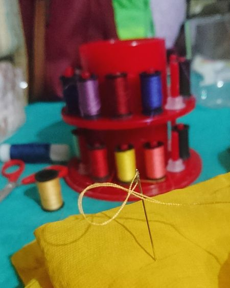 Sewing Yellow Needle Sewing Thread Sew Sewing And Such Sewing By Hand Thread Spool Cloth