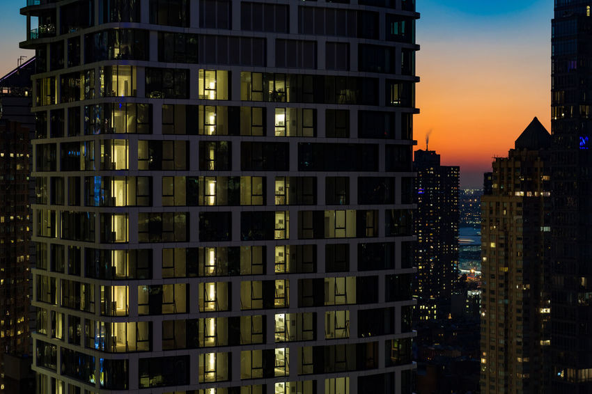 Architecture Built Structure Building Exterior Night Sky No People Office Building Exterior Residential District Cityscape Nature Building Outdoors Skyscraper Illuminated Orange Color Sunset City Place Modern Reflection Dusk Location