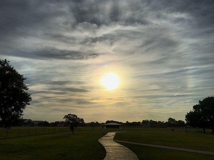 Solar Halo Sun Dogs In The Sky Sun Clouds Midland, TX West Texas Texas West Texas Skies Texas Skies