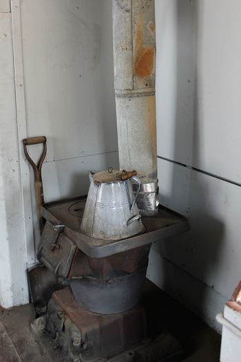 Cooking Abandoned Coal Stove Indoors  Kaboose Metal No People Obsolete Old Rail Workers Railroad