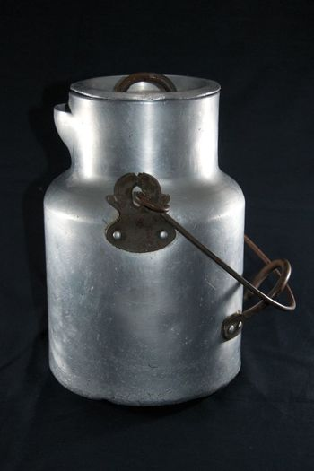 Black Background Milk Churn Milk-churn Old Milk Chu Old Milk Churn Old-fashioned Silver Churn Silver On Black Still Life Still-Life