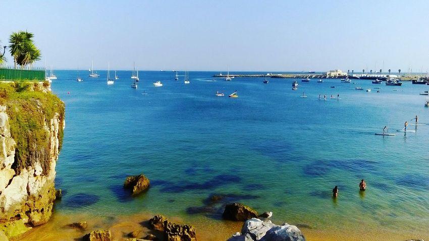 Marina de cascais. Sun Verao2015 Paisagem Water Rochas