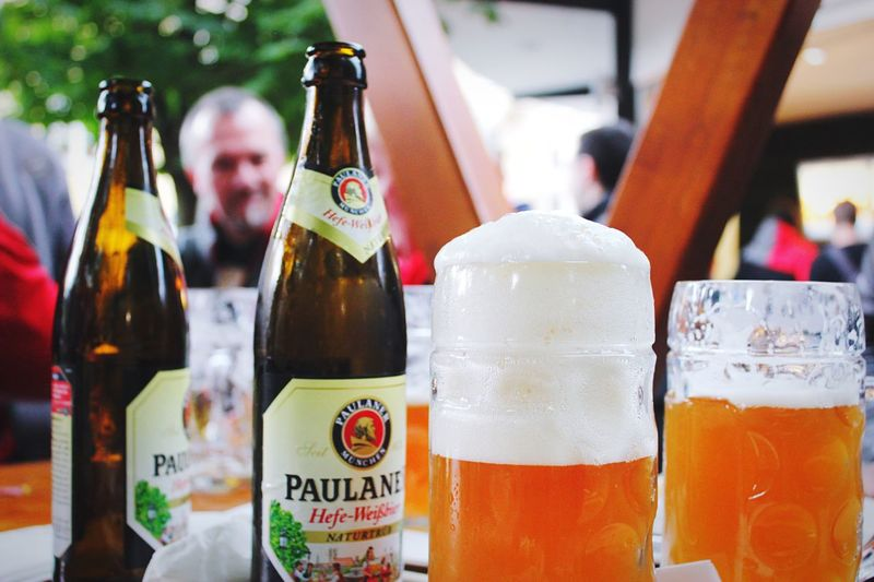 Enjoying a few beers in Munich Beer Drinking Beer Beer Garden
