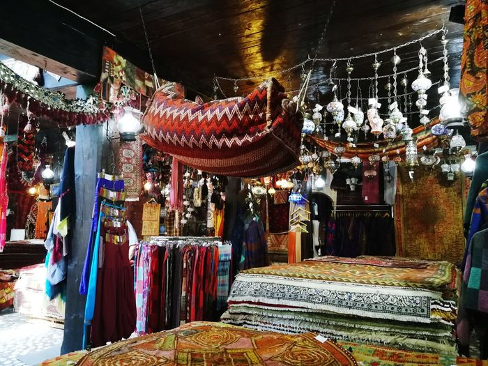 EyeEmNewHere Persian Carpet & Rug Sarajevo Multi Colored Hanging Store Choice Market Variation For Sale Bazaar