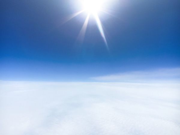 Blue Scenics Beauty In Nature Tranquil Scene Tranquility Sunlight Sun Idyllic Nature Sky Cloudscape Majestic Sunbeam Cloud - Sky Day Aerial View Cloud Ethereal Outdoors Atmosphere