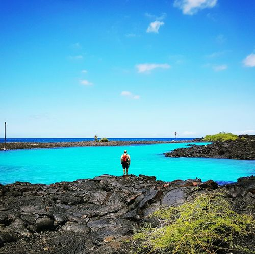 Shades of blue Water Blue Sky Sea Getting Away From It All Beauty In Nature Hawaiishots Landscape_Collection Hawaiinei From My Point Of View Hawaii Life Hawaii ❤✌ Hawaii Landscape_photography Scenics Kona Hawaii