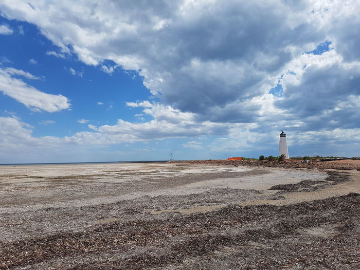 Low Tide No People Sand Landscape Nature Sky Outdoors Jetty, Pier Lighthouse