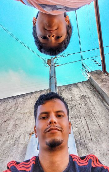 clone Pai E Filho LGG5 EyeEm Selects Young Adult Only Men Front View Outdoors Headshot Young Men Portrait Looking At Camera