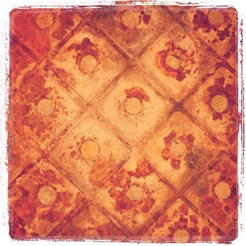 Found metal plate Rust Texture Metal Spikep
