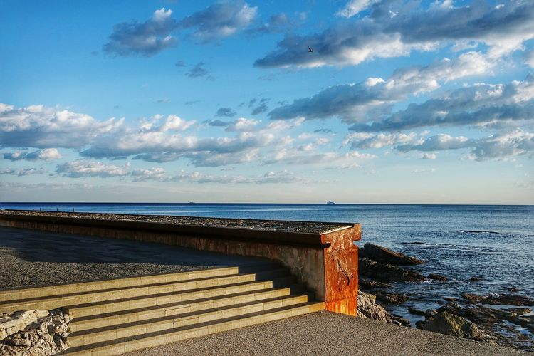 Clouds stairs and rust Eye4photography  Landscape_Collection RustyLicious Negative Space Seascape