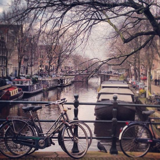 Amsterdam Bicycle Cannal Photography