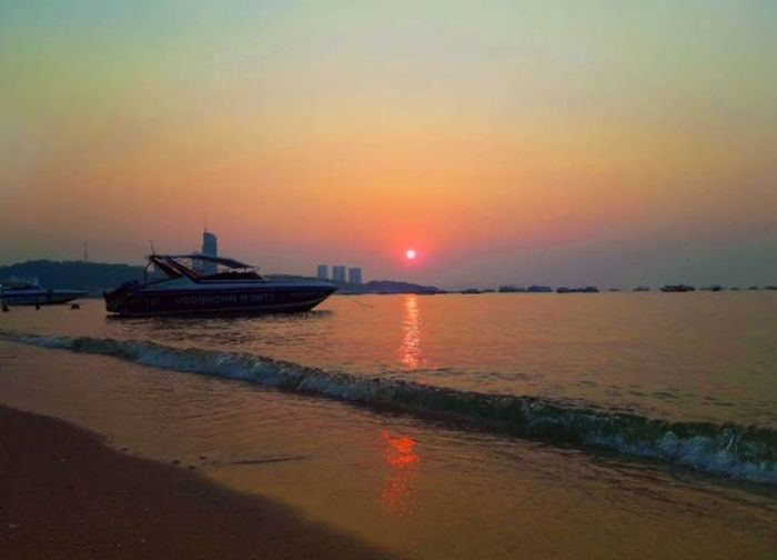 sunset sea sky water city No People Sky_collection No People Outdoors Outdoors Nopeople Sky EyeEm Best Shots Beauty In Nature Thailand🇹🇭 Beautiful Water Nautical Vessel Sea Sunset Beach Reflection Sun Sky Horizon Over Water Cloud - Sky 50 Ways Of Seeing: Gratitude This Is Natural Beauty EyeEmNewHere
