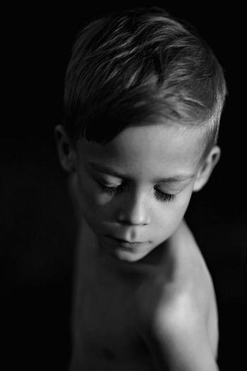 Blackandwhite Bnw Childhood Children Close-up Cute Headshot Human Face Kids Leisure Activity Lifestyles People Person Portrait Showcase August 2016 Studio Shot