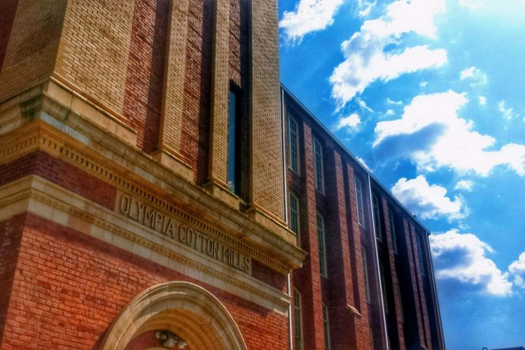 Olympia Cotton Mills (South Carolina) -- Architecture Building Sky Sunshine HDR Landscape Clouds And Sky Hdr_Collection Cityscapes The Changing City The Architect - 2016 EyeEm Awards