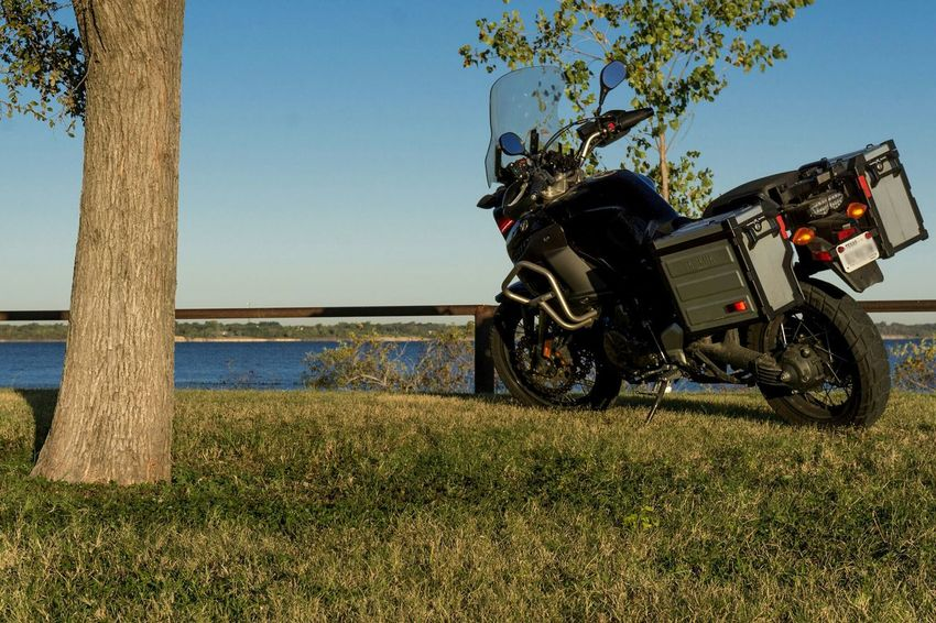 Motorcycle, Lake, tree, adventure Tree Outdoors Day Sky Grass Nature No People Clear Sky