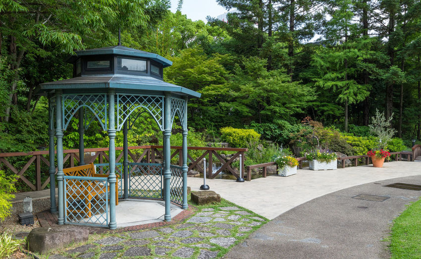 Flowers,Plants & Garden Gazebo At The Park Tranquility Gardens Outdoors Park Tranquil Scene Tree