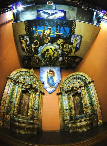 Religion Spirituality Human Representation Place Of Worship Indoors  Gold Colored No People Architecture Day Curitiba Curitibacool Curitiba Art CuritibaSuaLinda