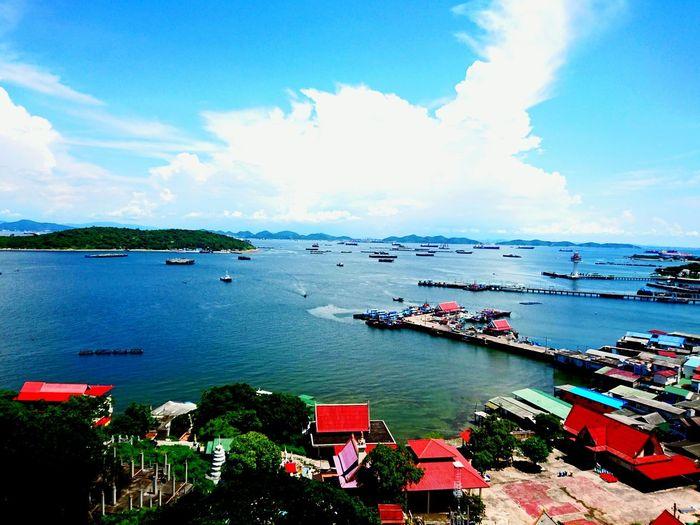Sea Nautical Vessel Cloud - Sky Outdoors Water Beach Sky Day No People Beauty In Nature Harbor SICHANGISLAND KohSichang SichangBeach Thailand Thai Koh Sichang Koh Sichang, Chonburi Beauty In Nature Blue Nature