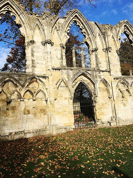 York Museum Gardens Religion Place Of Worship Arch Architecture Built Structure Building Exterior Façade Spirituality No People Outdoors Day Rose Window