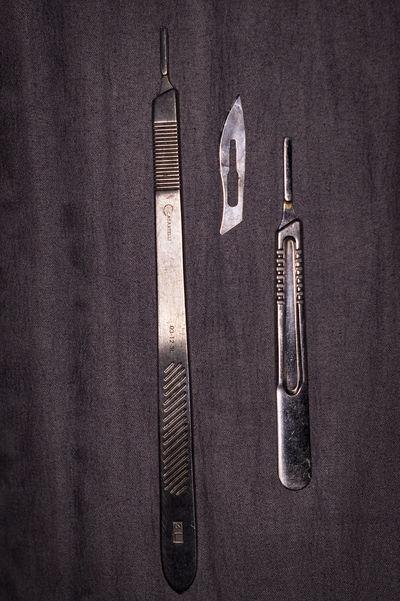 Bad Taste Close-up Equipment Still Life Surgical Blade Surgical Instruments Surgical Scalpels Vintage Work Tools