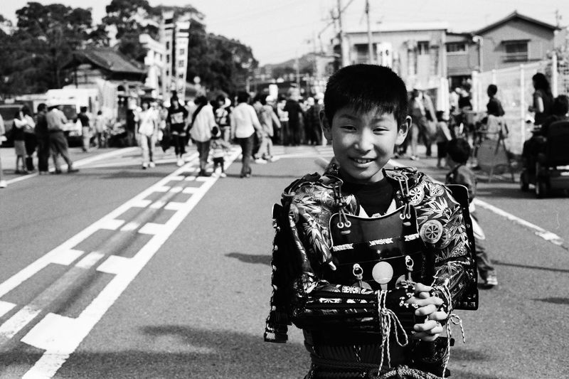 35mm Film Blackandwhite Boy Contax G2 EyeEm Best Shots EyeEm Best Shots - Black + White EyeEm Japan Festival Film Photography Filmisnotdead From My Point Of View Japan Culture Light And Shadow Monochrome Portrait Samurai Streetphotography Taking Photos The Week Of Eyeem Ultimate Japan