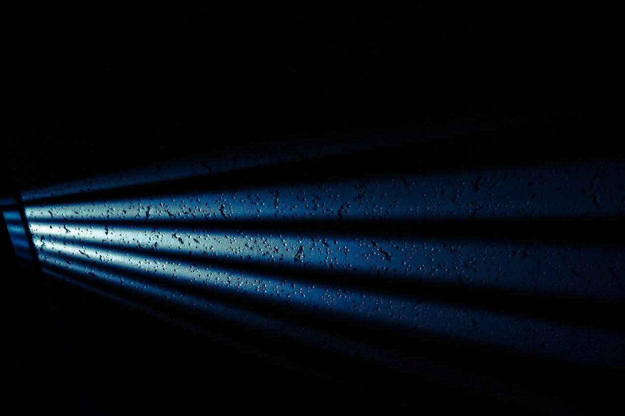 dark, shadow, backgrounds, no people, blue, red, close-up, illuminated, night, indoors, black background